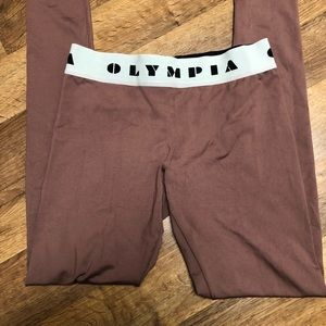 Olympia Activewear brown leggings sz Small